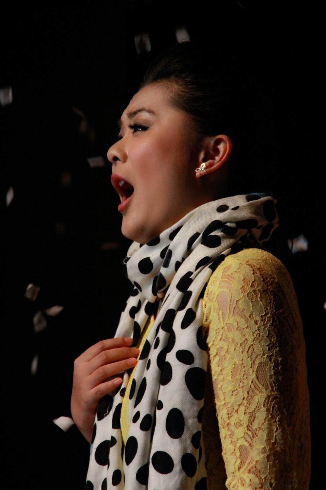 Jie Li auf den Bühne